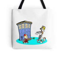 Calvin and Hobbes Doctor Who Tote Bag