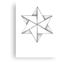 Paper Star Canvas Print