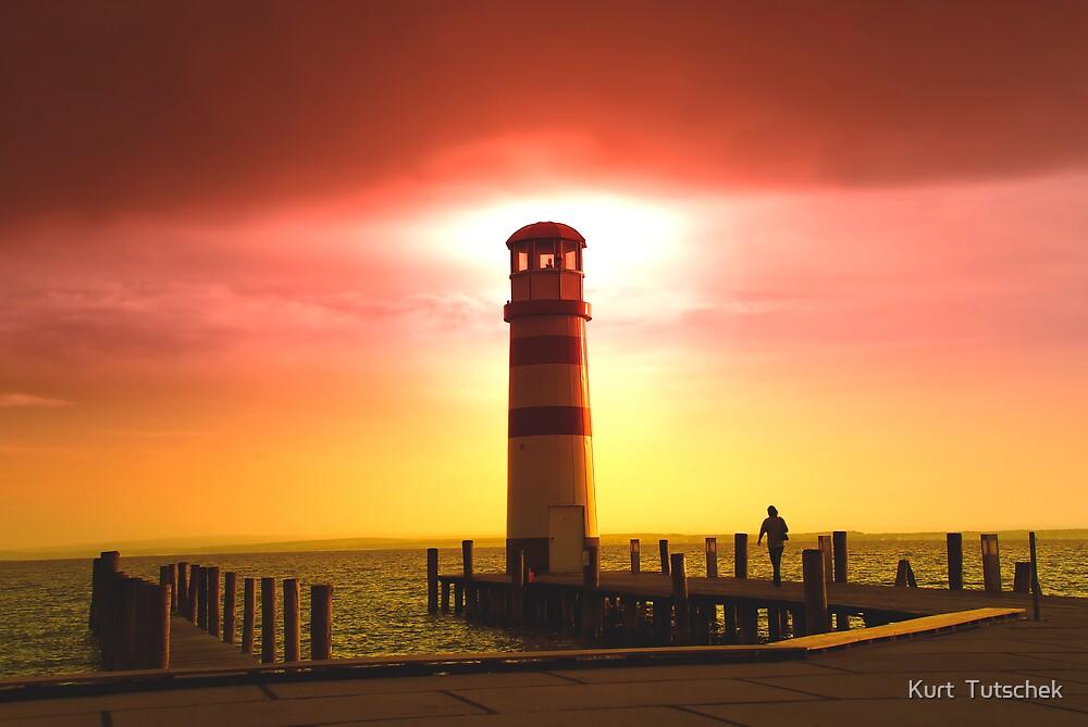 Towards the lighthouse by Kurt  Tutschek