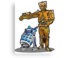 R2-Dalek2 & Cyber3PO Canvas Print