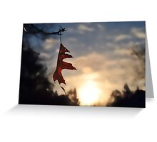 An Evening Winter Sky Greeting Card