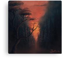 Thru the Forest Canvas Print