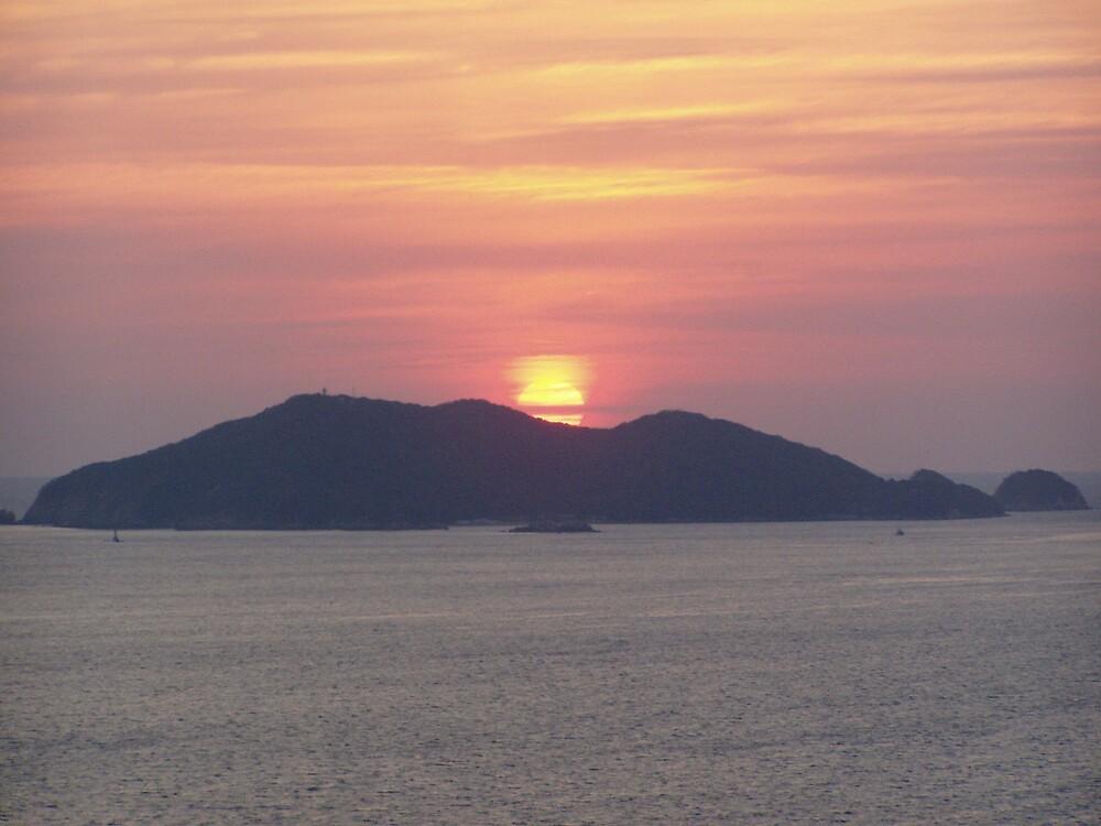 Sunset in Acapulco by lucio della ratta