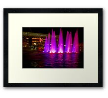 Holiday fountains in pink Framed Print