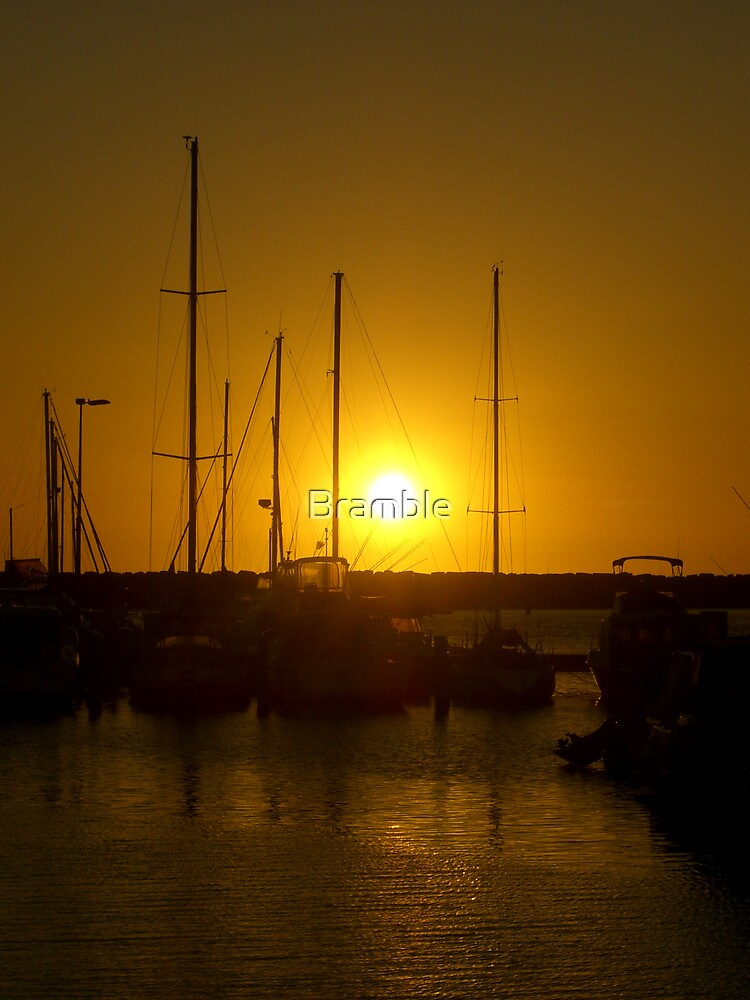 Sunset at the harbour by Bramble