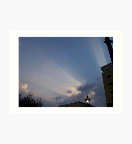 heavens rays Art Print