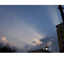 heavens rays Photographic Print