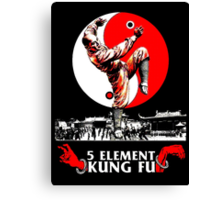 5 Element Kung Fu. Canvas Print