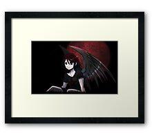 Red Moon Angel Framed Print
