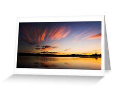 Noosa Lakes Sunset Greeting Card