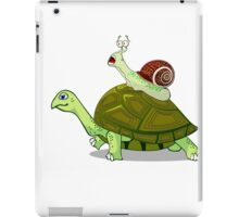 Frightened Snail Hitches a Ride iPad Case/Skin