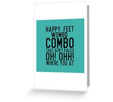Wombo Combo Greeting Card