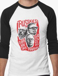 Ruskies-Russian Composerss Men's Baseball ¾ T-Shirt