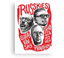 Ruskies-Russian Composerss Canvas Print