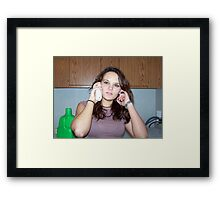 queen of the telephone Framed Print