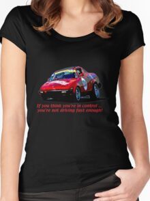 TR7V8 Women's Fitted Scoop T-Shirt