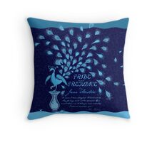 Paisley Peacock Pride and Prejudice: Classic Throw Pillow