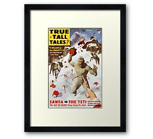 Santa vs The Yeti   Framed Print