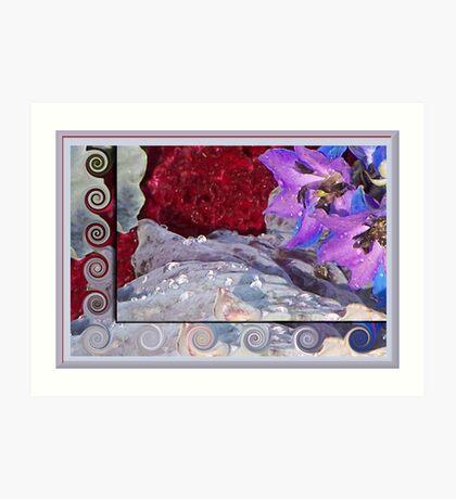 Glistening Floral Array Art Print