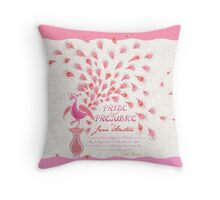 Paisley Peacock Pride and Prejudice: Girly Throw Pillow