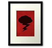 Misfits-Style Halftone Grunge Storm Icon Framed Print