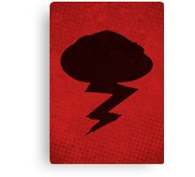 Misfits-Style Halftone Grunge Storm Icon Canvas Print