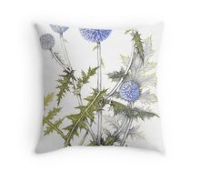 Globe Thistle - Echinops ruthenicus Throw Pillow