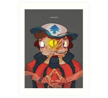 Triangle Trouble Art Print