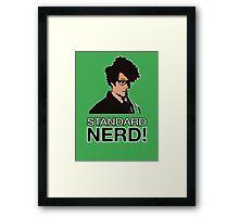 MOSS - STANDARD NERD! Framed Print