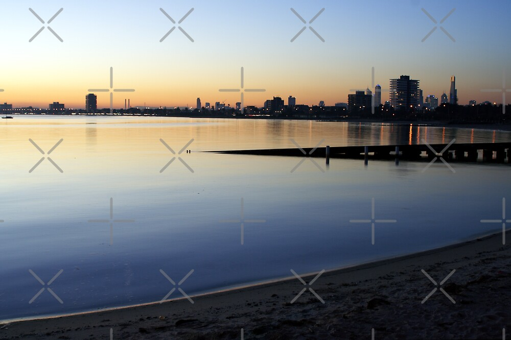 Melbourne City Skyline by JHP Unique and Beautiful Images