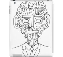 Man and numbers iPad Case/Skin