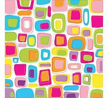 Retro squares Photographic Print