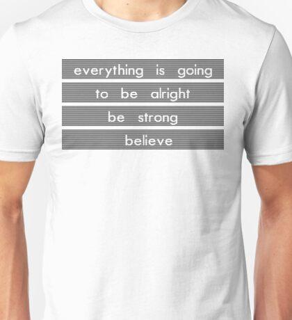 Yellowcard - Believe Lyrics Unisex T-Shirt