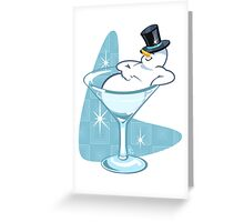 Snowmantini Greeting Card