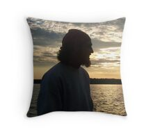 Pirate in Sillouette Throw Pillow