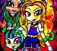 Rainbow Rocks - The Dazzlings by ScribbleSketch