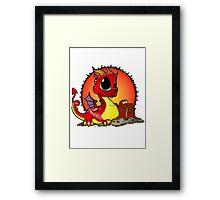Baby Dragons Treasure Framed Print