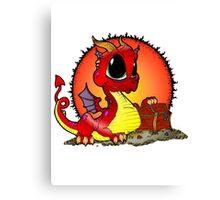 Baby Dragons Treasure Canvas Print