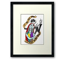Sally and Jack in Love Framed Print