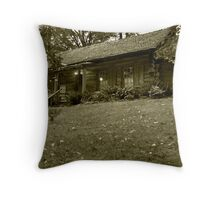 The Log Cabin Throw Pillow