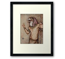 Angry Horus, Screaming Framed Print