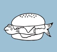 FRESH FISH BURGER Baby Tee