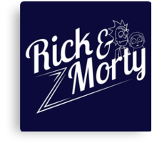 Rick and Morty (white lettering) Canvas Print