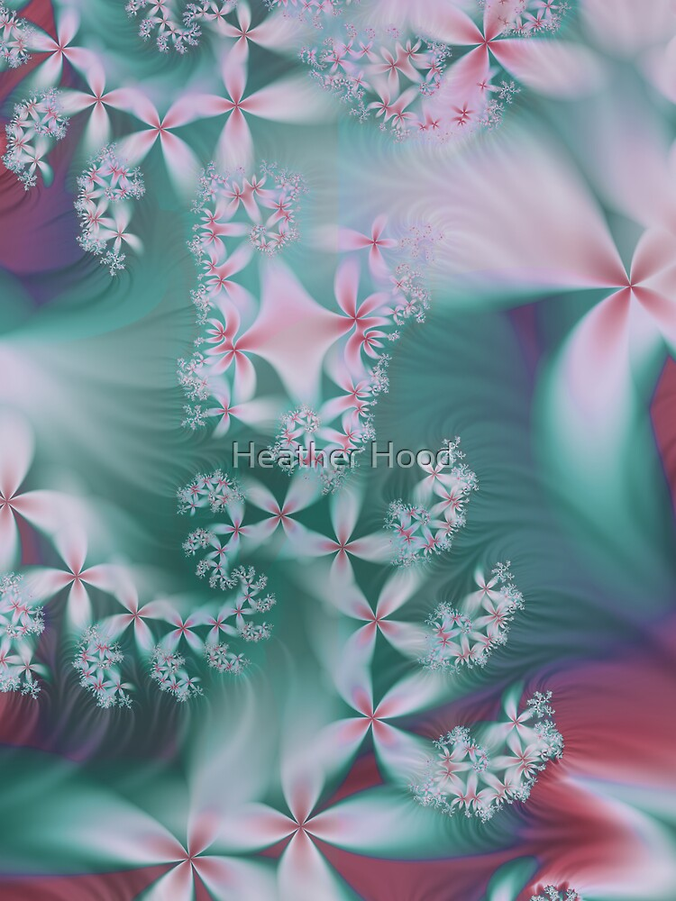 Dreamy multicolored floral illustration by Heather Hood