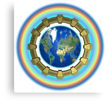 Earth Ascension Stargate Canvas Print