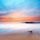beautiful sunset on the beach by Enjoylife