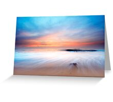 beautiful sunset on the beach Greeting Card
