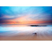 beautiful sunset on the beach Photographic Print