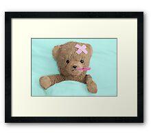 teddy is sick Framed Print