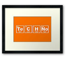 Techno - Periodic Table Framed Print